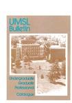 UMSL Bulletin 1985-1986
