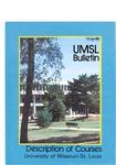 UMSL Bulletin 1986-1987 Description of Courses
