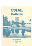 UMSL Bulletin 1982 Description of Courses