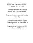Employee salary report. [University of Missouri—St. Louis] 2020-2021
